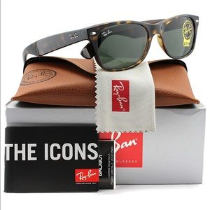 Ray-Ban RB2132 New Wayfarer Tortoise 55mm NEW